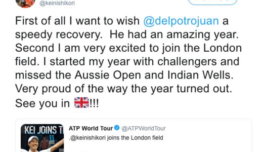 【テニス愛の無駄遣い】錦織圭がファイナルで盟友の無念を晴らす